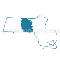 Worcester County in Massachusetts